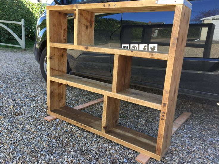 Reclaimed scaffold board bookcase shelving unit Made any shape, any size!