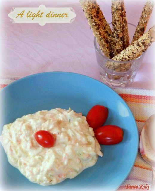 Tante Kiki: Γιαούρτι με λαχανικά και ανθότυρο... ελαφρύ δείπνο ή dip?