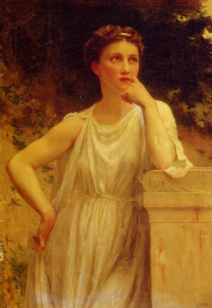 FRENCH PAINTERS: Guillaume SEIGNAC A Wistful Moment