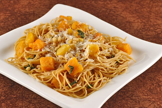 Spaghetti with Butternut Squash, Pine Nuts and Sage The mellow flavor ...