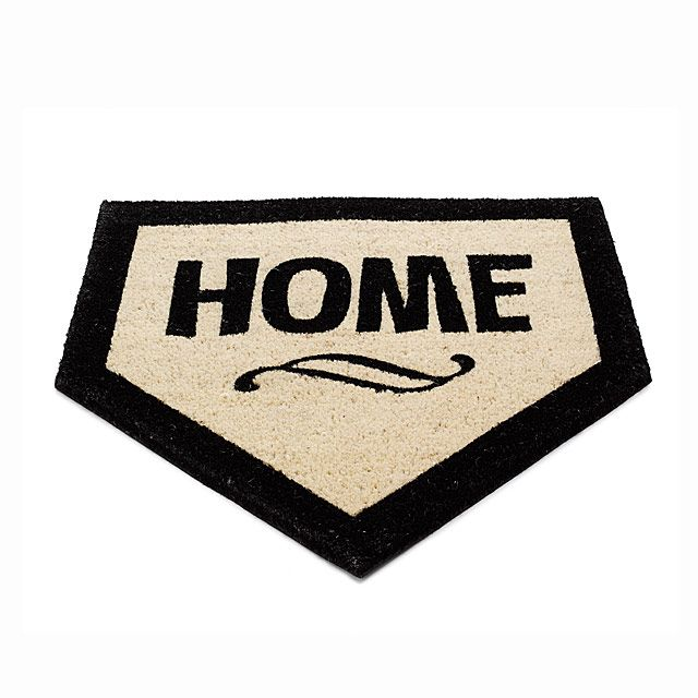 baseball & puns: two of my favorite things! ;) Home Plate Doormat