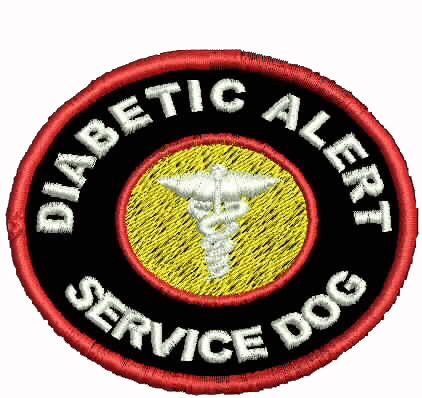 Diabetic Alert Dog Patch Service Dog Patches Assistance Dog Support