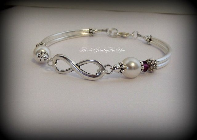 A personal favorite from my Etsy shop https://www.etsy.com/listing/191760662/pearl-infinity-bracelet-infinity-knot