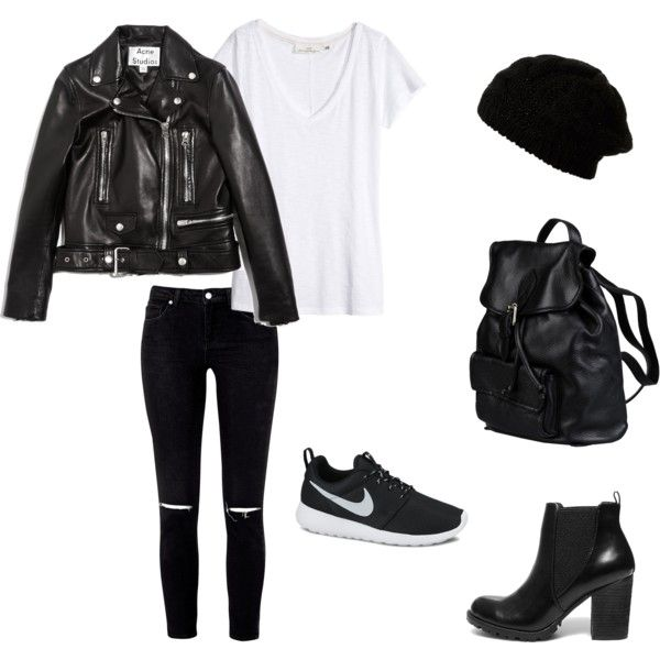 This might just be my work outfit tomorrow... by jadeclaire19 on Polyvore featuring H&M, Acne Studios, Steve Madden, NIKE and Doucal's