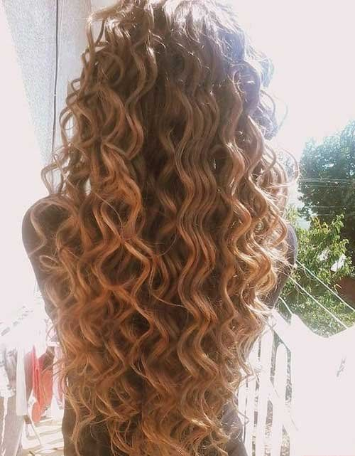 Cute long permed hairstyle 2016‬‏