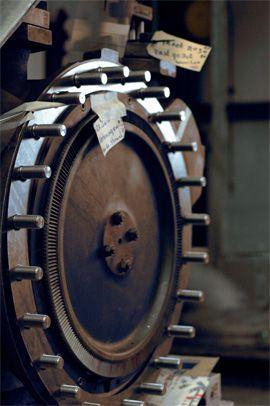 Behuizing met stoomturbine wiel, curtis type