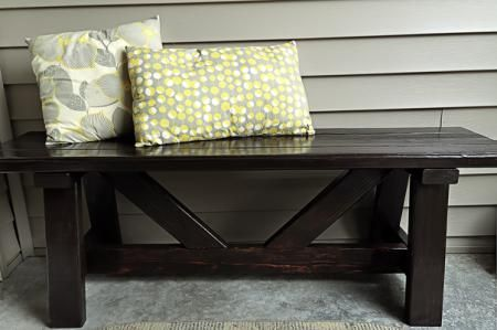 $10 Providence Bench for my Front Porch | Do It Yourself Home Projects from Ana White