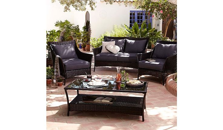 Buy Jakarta 4 Piece Classic Conversation Sofa Set  from our Conservatory Furniture range today from George at ASDA.