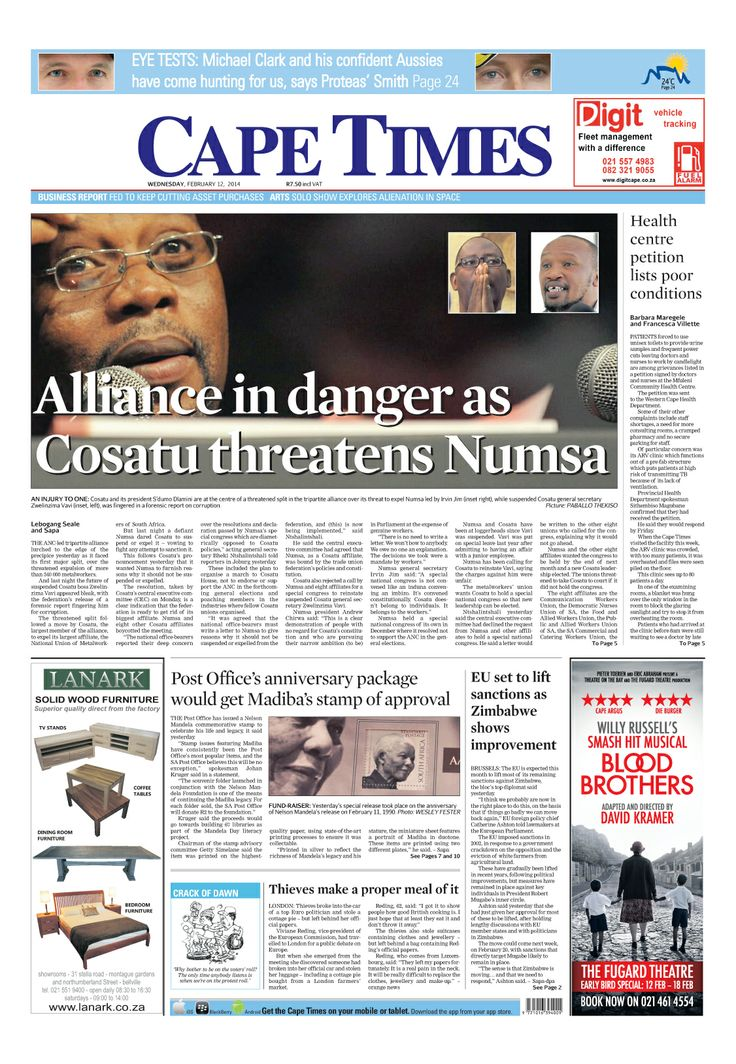 News making headlines: Alliance in danger as #Cosatu threatens Numsa
