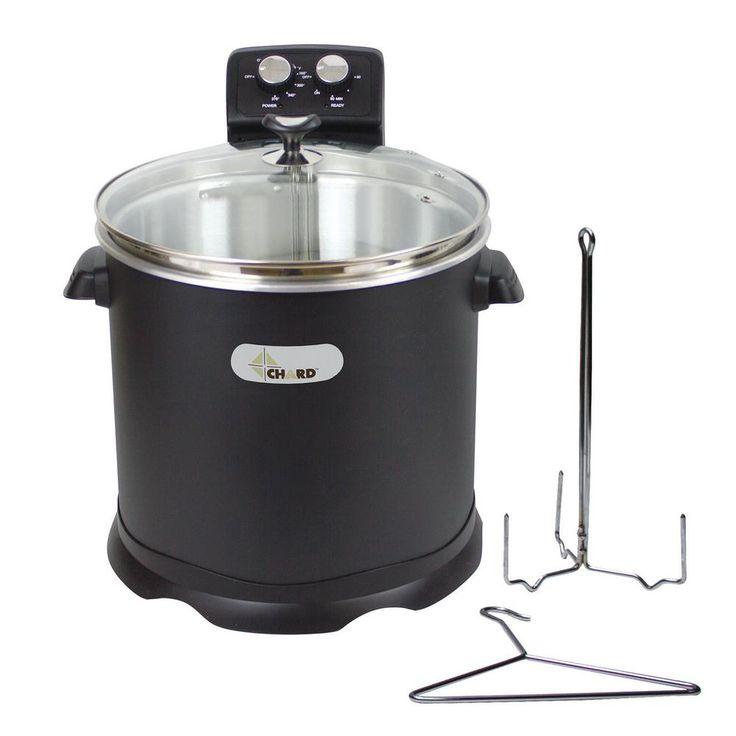15 l Electric Turkey Fryer, Black