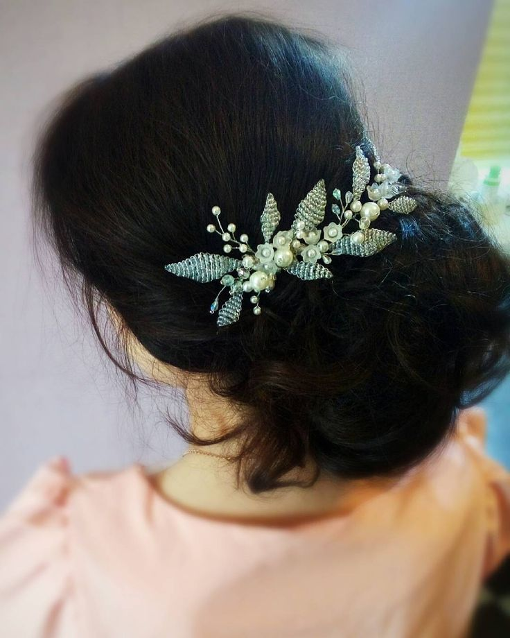 Bridal Headpiece, Wedding Hair Vine, Bridal Hair Vine, Bridal Hair Accessories, Crystal Pearl Headpiece, Wedding Pearl Halo, Ornament, Flowers
