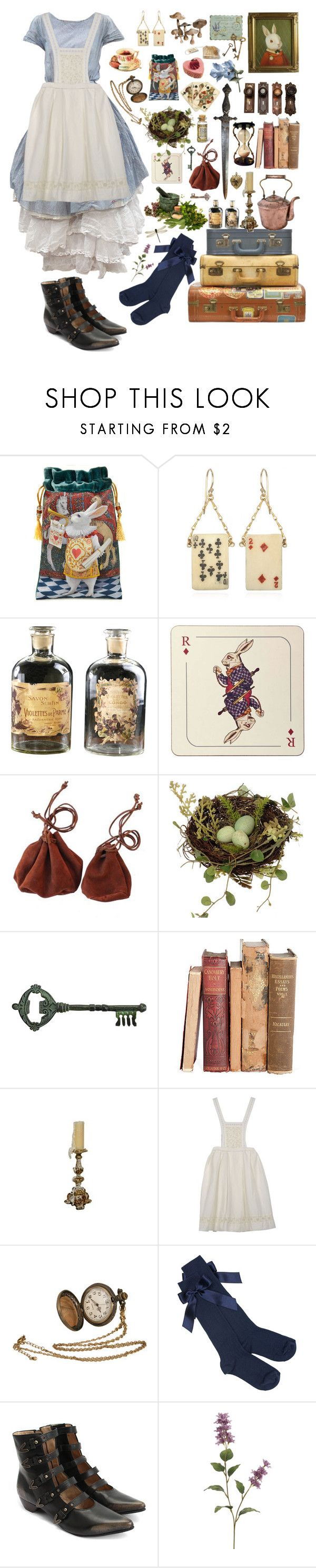 """But my darling, this is not Wonderland and you're not Alice"" by nymphlake ❤ liked on Polyvore featuring Lulu Frost, Avenida Home, Black Apple, Pier 1 Imports, Péro, John Fluevog, Alice, Wonderland and aliceinwonderland"
