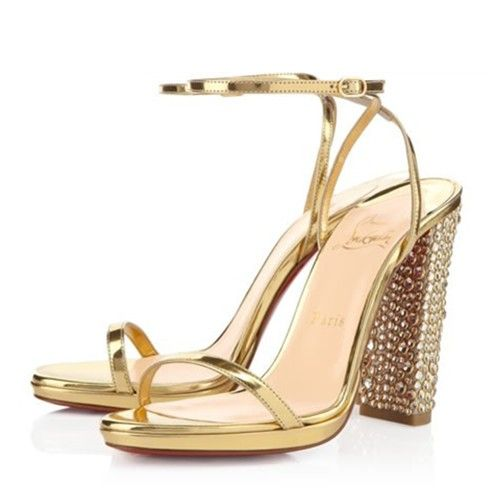 Christian Louboutin AU PALACE SPECCHIO 120 mm Or