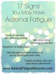 signs of adrenal fatigue                                                                                                                                                     More