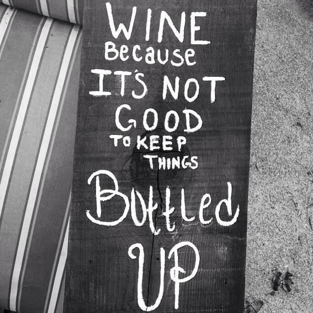 Don't keep things bottled up