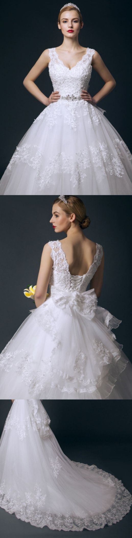 Ball Gown Wedding Dresses, White Wedding Dresses, Long Wedding Dresses, Long White Wedding Dresses With Bowknot Cathedral Train V-Neck Sale Online, Long White dresses, Ball Gown Wedding Dresses, Discount Wedding Dresses, Wedding Dresses Online, Ball Gown Dresses, White Long Dresses, Online Wedding Dresses, Wedding dresses Sale, Wedding Dresses Ball Gown, Wedding dresses Train, White dresses Long, Long Train Wedding Dresses, White Gown Dresses