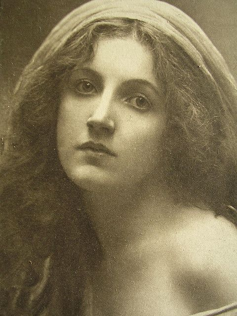 Tribute to Julia Margaret Cameron.  .....Early postcard depicting her work.