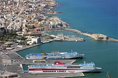 From the new port of Heraklion 2 million passengers are moved every year on routes to Piraeus and the Aegean islands. Serves number of cruise ships and is the main axis for transportation of goods from and to the island.