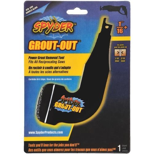Spyder Grout-Out Reciprocating Saw Grout Removal Tool, Black