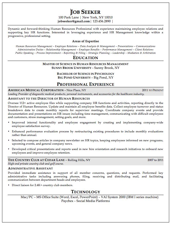 14 best Resumes images on Pinterest Sample resume, Engineering - director of human resources resume