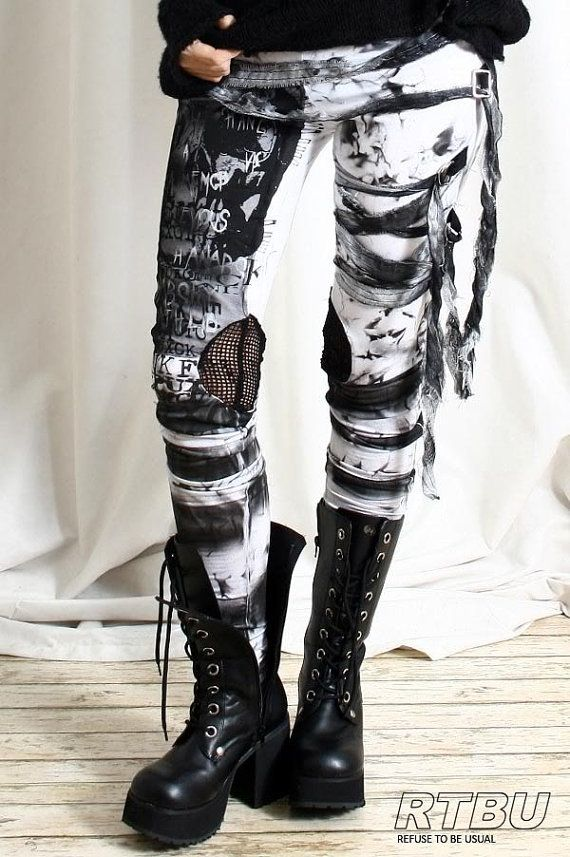 Unisex Ultra Long Gathered Punk Gothic Rocker by runnickyrun