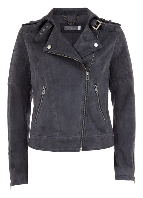 Granite Suede Biker Jacket