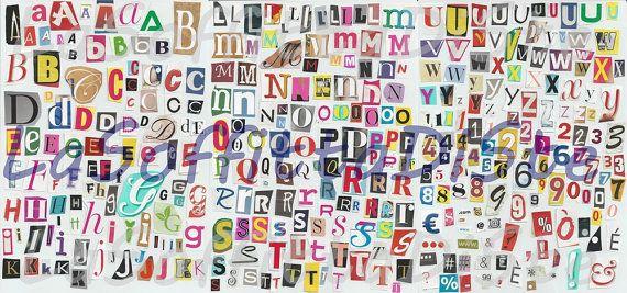 lettere di giornale ritagli alfabeto numeri di LaSoffittaDiSte