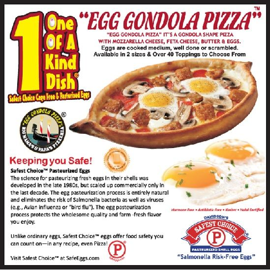 Official Big Mama's & Papa's Pizzeria Blog | What is an Egg Gondola Pizza?