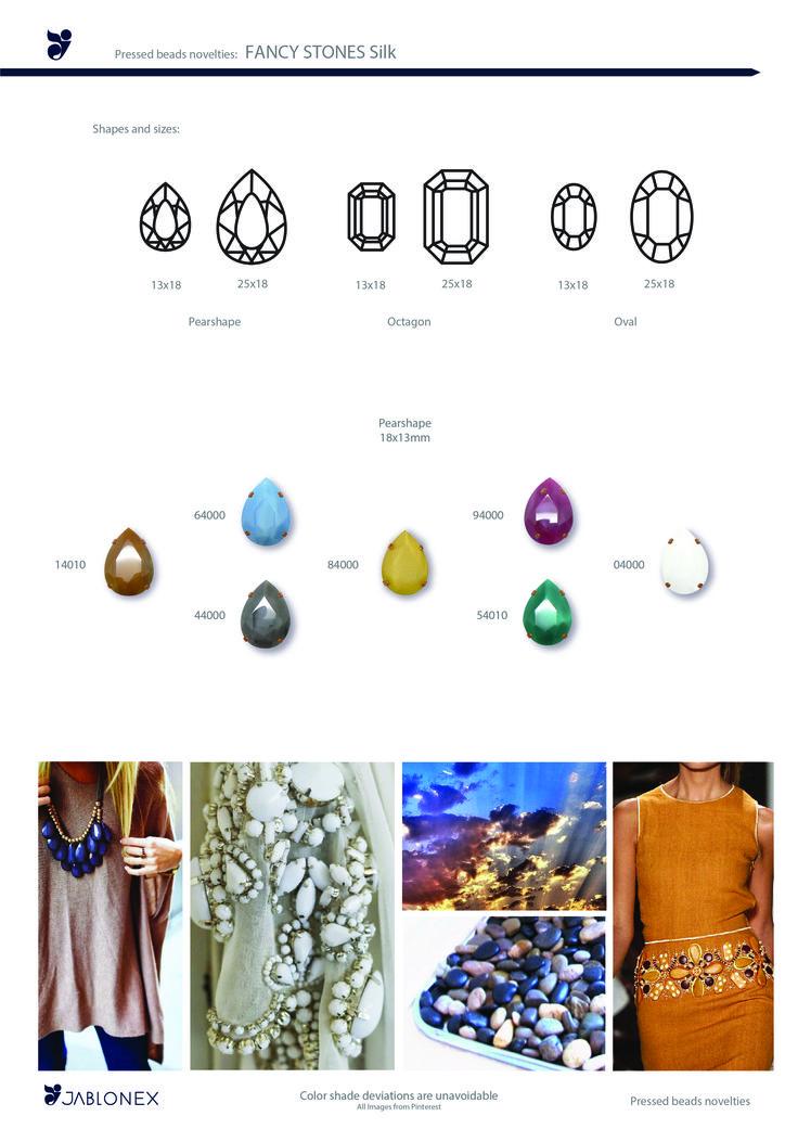 Jablonex TTC stones made with silk colors