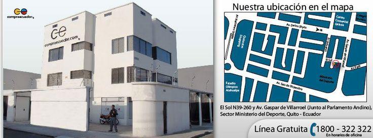 COMPRAECUADOR.COM  Dirección: El Sol N39-260  y Av. Gaspar de Villarroel (Sector  Ministerio del Deporte)  Referencia cómo llegar: Edificación de cuatro pisos esquinera blanca  PBX: 02-2264 488 Línea Gratuita: 1800 322-322  Cel.: 0998822299  / 0996234719 (a toda hora) / 0996111988  (movistar)  Quito-Ecuador  Horario de Atención a Clientes: lunes a sábados de 9:00 a 18:30