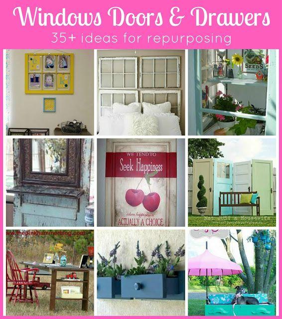 Pondered.Primed.Perfected: Windows, Doors & Drawers ~ Repurposing Household Items