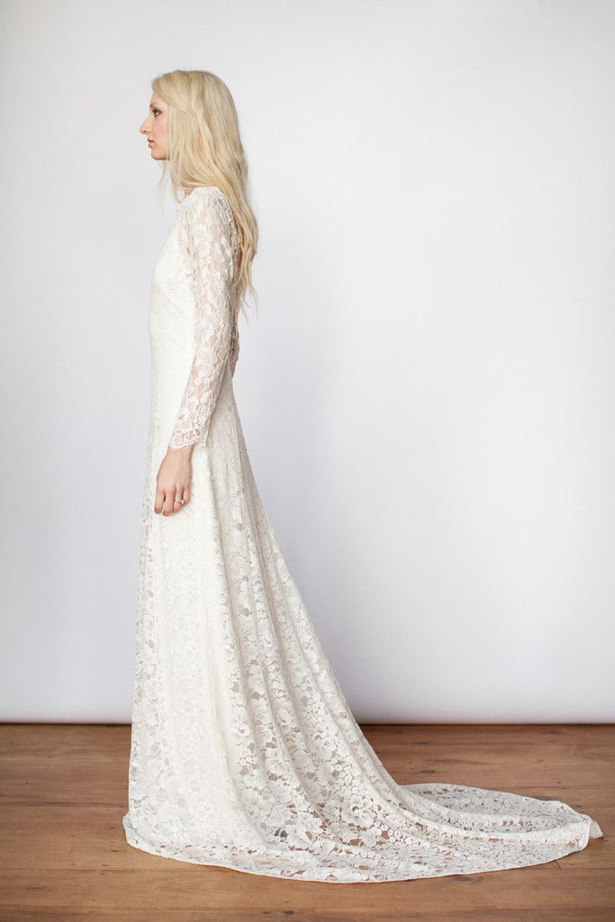 Celestine   & For Love - long sleeved lace wedding dress