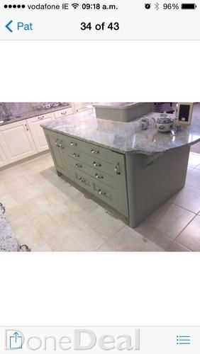 Painted oak kitchen and island  display