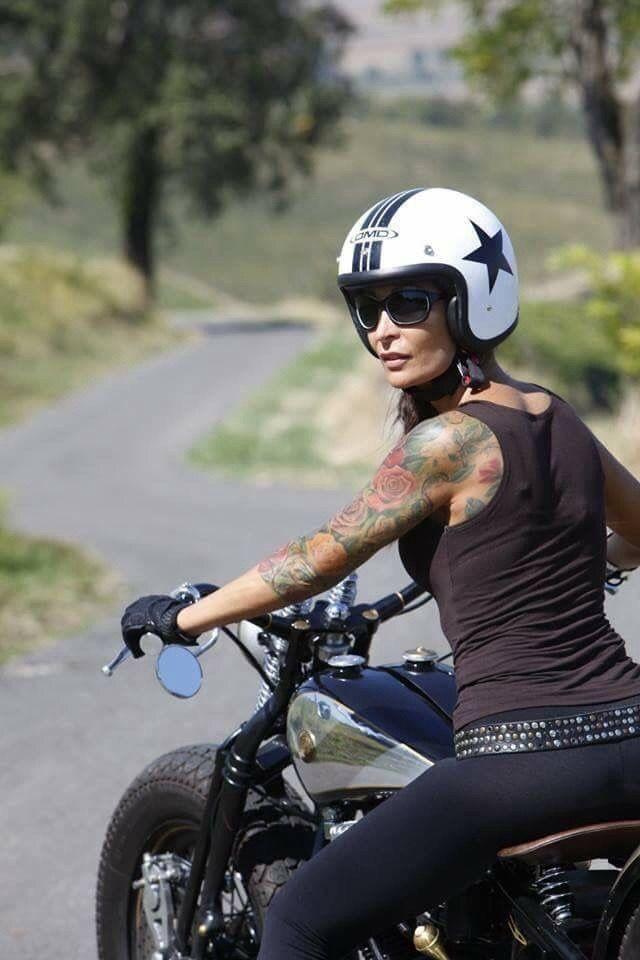 Motorräder und Mädchen – Мотоциклы café racer – #Cafe #Mädchen #M…..