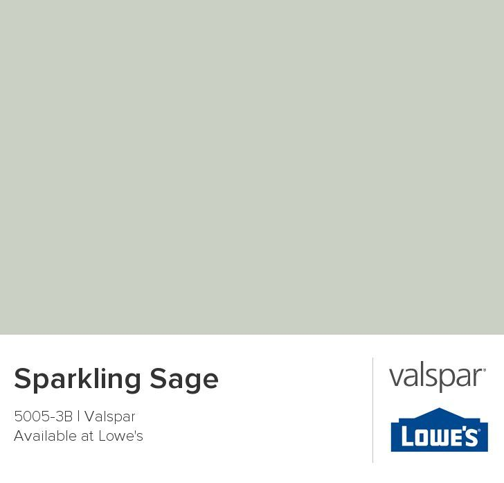 valspar sparkling sage - light mossy green with a bit of gray