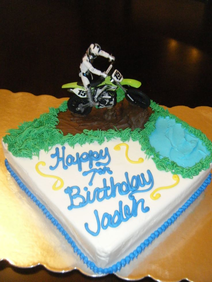 Cake With Dirtbike