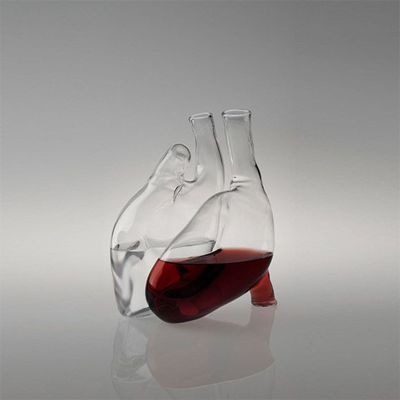 human heart carafe / because human hearts are an ongoing theme and nothing says human achievement like transparent glassware