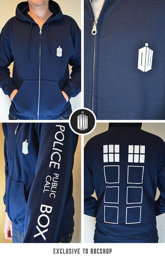 Get 10% off TARDIS Zip Up Hoodie (BBC Shop Exclusive)