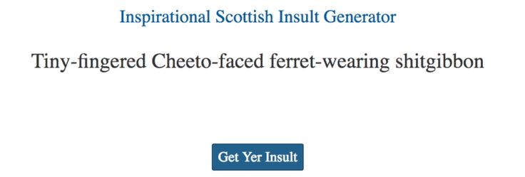 Celebrate St Andrews Day with this amazing Scottish insult