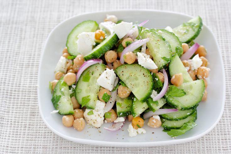 Kichererbsen-Salat mit Feta