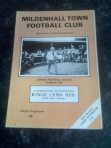 King's Lynn Reserves Away to   Mildenhall Town FC   1989/90   Eastern Counties League