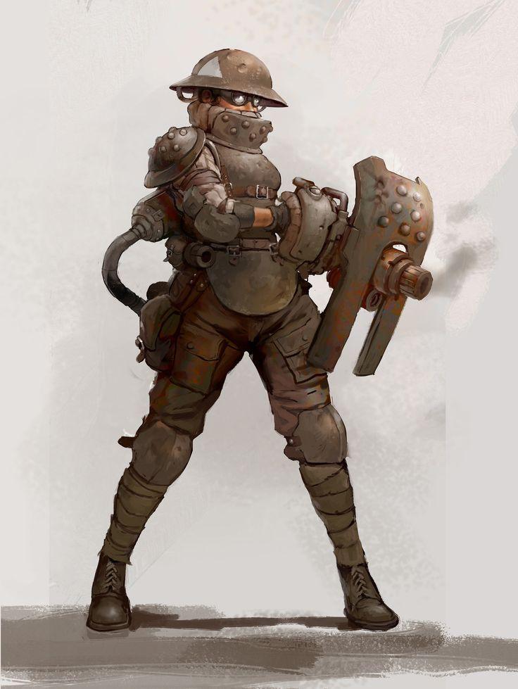 ArtStation - Heavy Gunner, Guillaume Menuel
