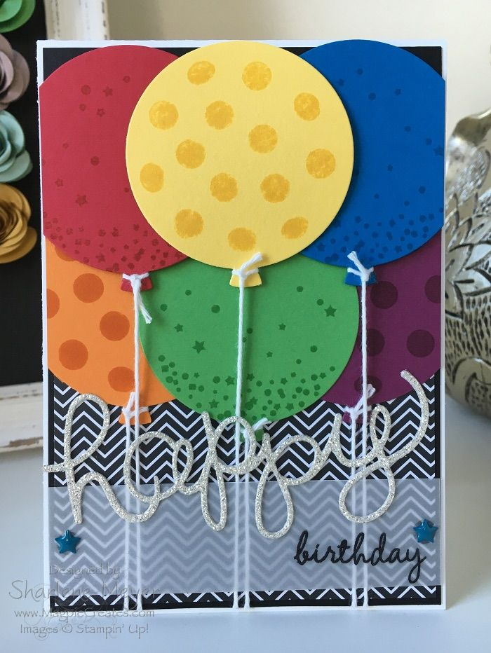 Celebrate Today Birthday card created by Sharlene Meyer from www.magpiecreates.com #stampinup #magpiecreates