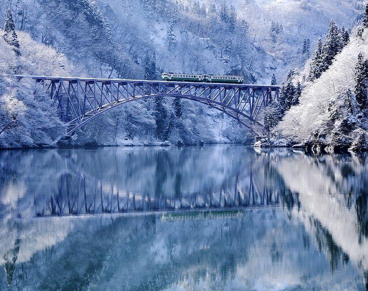Cold valley   Tadami river in winter #japan #fukushima