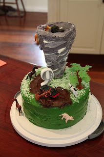 tornado cake! Apparently other kids are obsessed with tornadoes as well:)