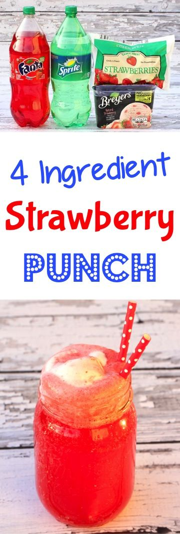 Strawberry Recipes!  This summer fruit punch recipe is so refreshing!