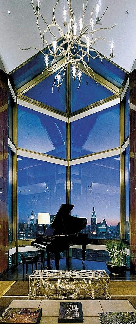 """Interior View From a New York Penthouse -  seek refuge in Allah from the accursed satan, """"And We Revealed to Moses and his brother, saying: Take for your people houses to abide in Egypt and make your housesplaces of worship and keep up prayer and give good news to the believers."""" Surah Yunus, 87"""