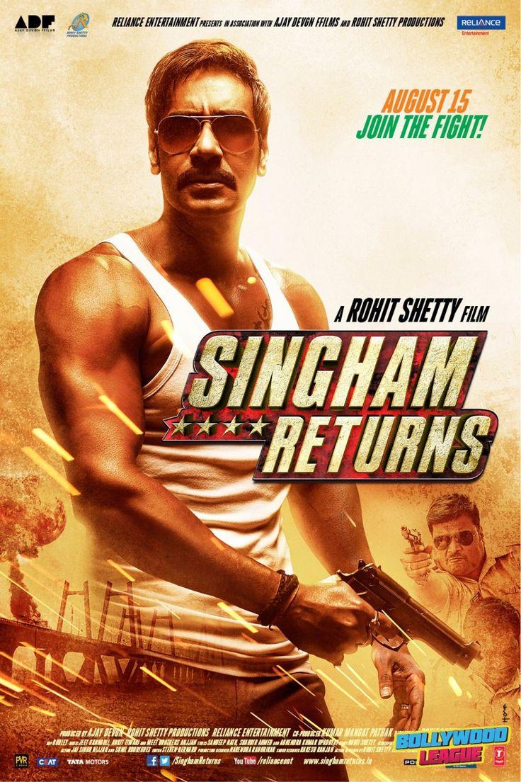 Singham Returns    Ajay Devgn   Movie Poster   Wallpaper. Website - http://bollywoodleague.com