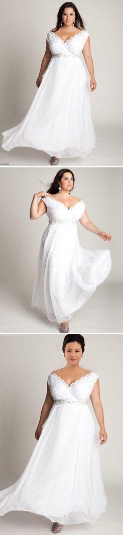 Bohemian Wedding Dresses 2016 Plus Size Sexy V Neck Lace Top A Line Cheap Bridal Gowns Chiffon Beach Elegant Dress For Brides