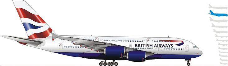 Airbus 380-800. British Airways
